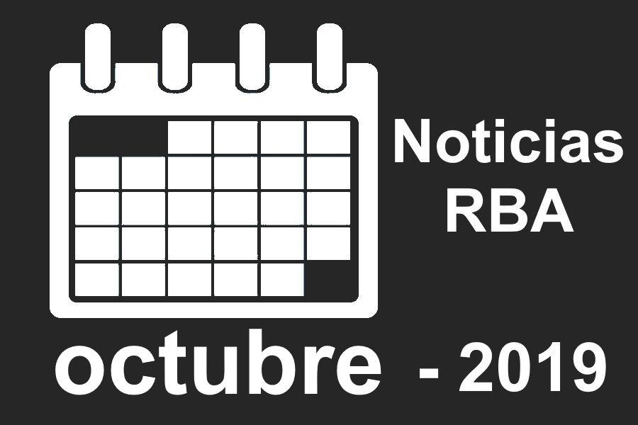 Noticias RBA del mes de octubre