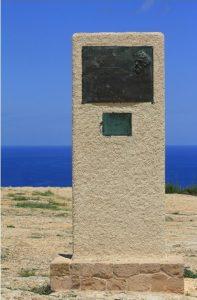 Monumento a Verne en Formentera